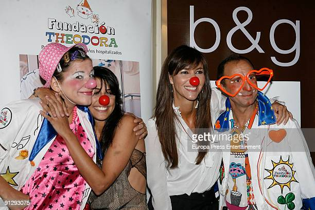 Actress Sara Casasnovas and model Arancha del Sol attend the Theodora Foundation Event at the Palace Hotel on September 30 2009 in Madrid Spain