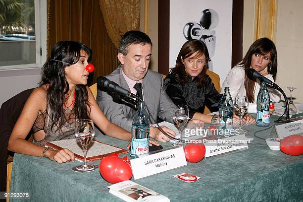 Actress Sara Casasnovas Javier Tejero Mercedes Bodes and model Arancha del Sol attend the Theodora Foundation Event at the Palace Hotel on September...
