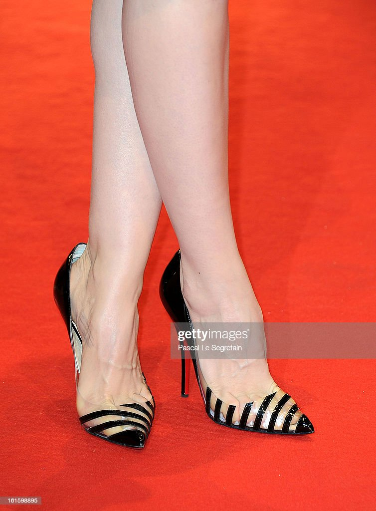Actress <a gi-track='captionPersonalityLinkClicked' href=/galleries/search?phrase=Sara+Forestier&family=editorial&specificpeople=617780 ng-click='$event.stopPropagation()'>Sara Forestier</a> (shoe detail) attends the 'Camille Claudel 1915' Premiere during the 63rd Berlinale International Film Festival at Berlinale Palast on February 12, 2013 in Berlin, Germany.