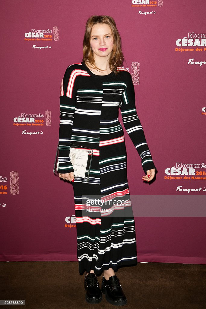 Actress <a gi-track='captionPersonalityLinkClicked' href=/galleries/search?phrase=Sara+Forestier&family=editorial&specificpeople=617780 ng-click='$event.stopPropagation()'>Sara Forestier</a> attends the 'Cesar 2016- Nominee luncheon' at Le Fouquet's on February 6, 2016 in Paris, France.