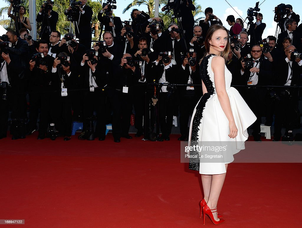 Actress Sara Forestier attends the Premiere of 'Le Passe' (The Past) during The 66th Annual Cannes Film Festival at Palais des Festivals on May 17, 2013 in Cannes, France.