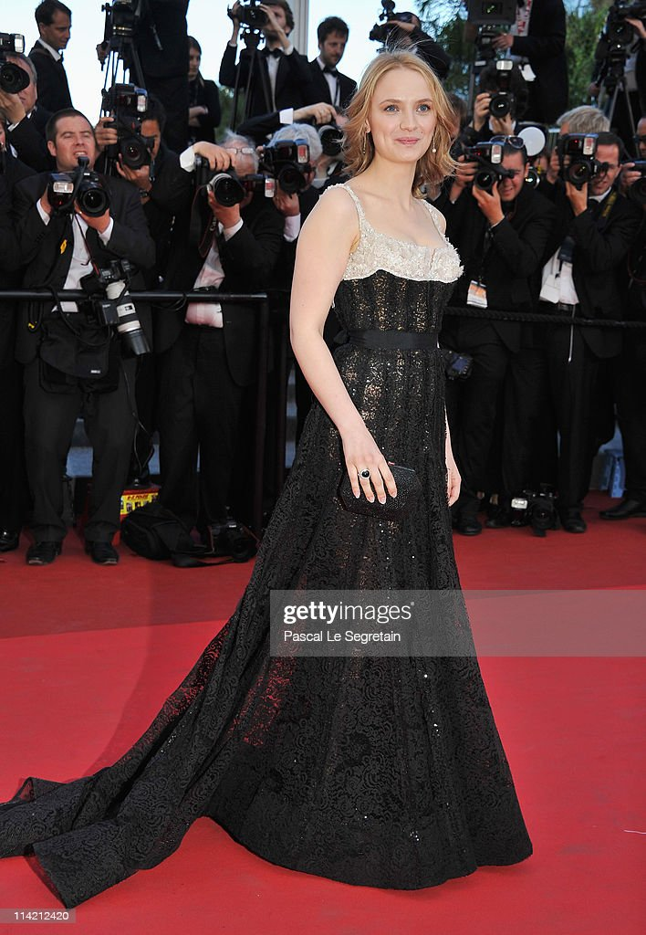 Actress Sara Forestier attends 'The Tree Of Life' premiere during the 64th Annual Cannes Film Festival at Palais des Festivals on May 16 2011 in...