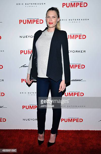 Actress Sara Foster attends Brian Atwood's Celebration of PUMPED hosted by Melissa McCarthy and Eric Buterbaugh on October 23 2015 in Los Angeles...