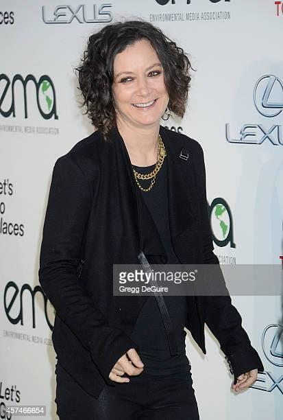 Actress Sara Gilbert arrives at the 2014 Environmental Media Awards at Warner Bros Studios on October 18 2014 in Burbank California