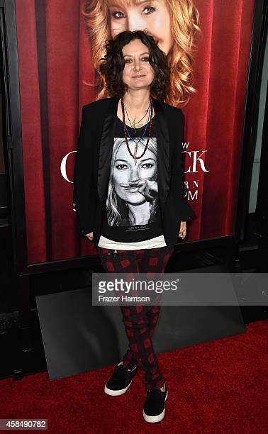 Actress Sara Gilbert arrives at the premiere of HBO's 'The Comeback' at the El Capitan Theatre on November 5 2014 in Hollywood California