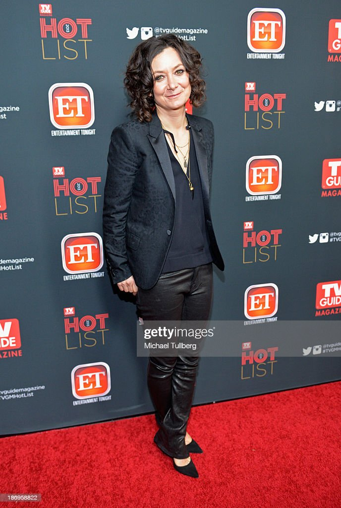 Actress Sara Gilbert attends TV Guide Magazine's Annual Hot List Party at The Emerson Theatre on November 4, 2013 in Hollywood, California.