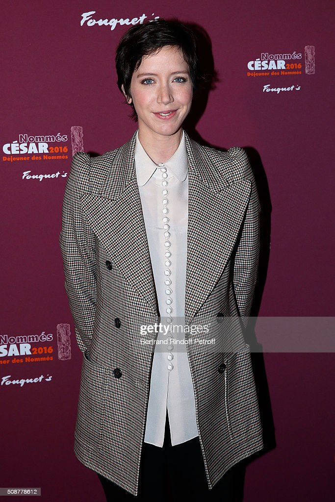 Actress <a gi-track='captionPersonalityLinkClicked' href=/galleries/search?phrase=Sara+Giraudeau&family=editorial&specificpeople=4289063 ng-click='$event.stopPropagation()'>Sara Giraudeau</a> attends 'Cesar 2016 Nominee Luncheon' at Le Fouquet's on February 6, 2016 in Paris, France.