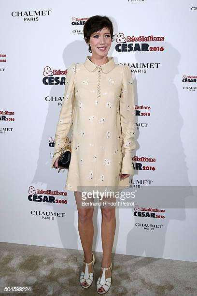 Actress Sara Giraudeau attends the 'Cesar Revelations 2016' Photocall at Chaumet followed by a dinner at Hotel Meurice on January 11 2016 in Paris...