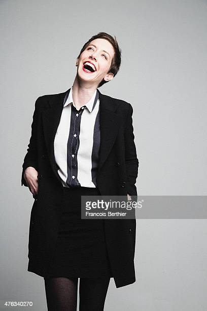 Actress Sara Giraudeau is photographed for Self Assignment on April 10 2015 in Paris France