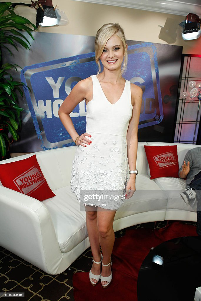 Actress Sara Paxton visits YoungHollywoodcom to promote 'Shark Night 3D' at the Young Hollywood Studio on August 23 2011 in Los Angeles California