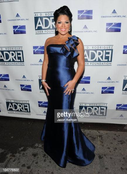 Actress Sara Ramirez attends the 2010 Broadway Takes the Runway Benefit at Touch Night Club on October 4 2010 in New York City