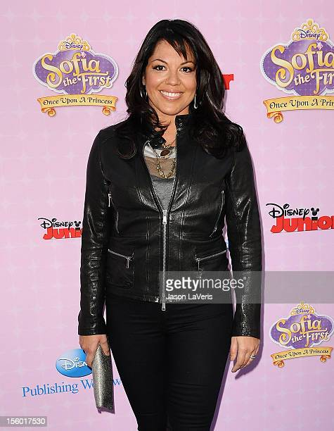 Actress Sara Ramirez attends the premiere of 'Sofia The First Once Upon a Princess' at Walt Disney Studios on November 10 2012 in Burbank California