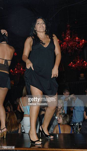 Actress Sara Ramirez dances at Kate Walsh's bachelorette party at TAO Nightclub in the Venetian Hotel and Casino on August 4 2007 in Las Vegas Nevada