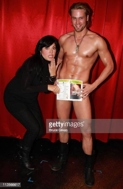 COVERAGE* Actress Sara Ramirez poses with Actor Dan Amboyer as she visits The Emerging Artists Theatre production of David Bell's 'The Play About The...