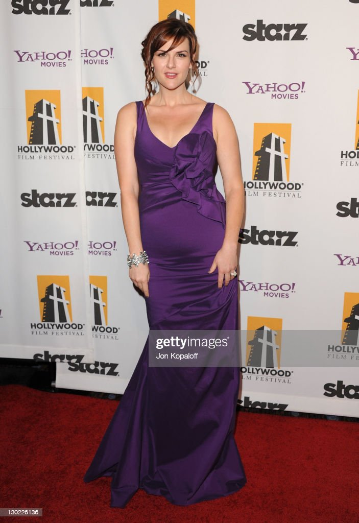 Actress Sara Rue arrives at the 15th Annual Hollywood Film Awards Gala at The Beverly Hilton hotel on October 24, 2011 in Beverly Hills, California.