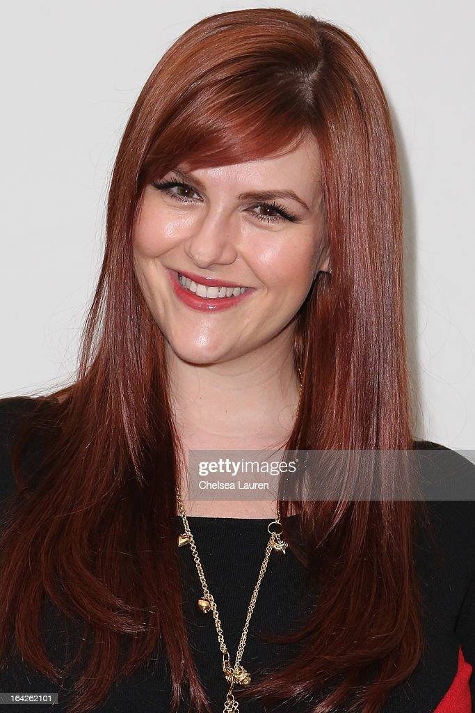 Actress Sara Rue arrives at the 'Dorfman in Love' premiere at Downtown Independent Theatre on March 21, 2013 in Los Angeles, California.