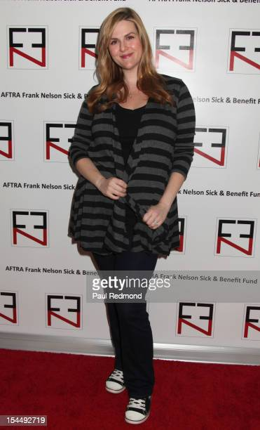 Actress Sara Rue attends AFTRA Foundation's Inaugural Frank Nelson Fund Celebrity Poker Party at Mulholland Tennis Club on October 20 2012 in Los...
