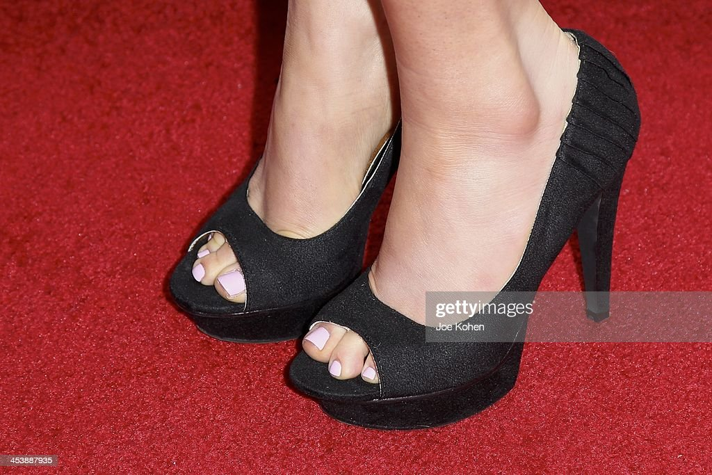 Actress Sara Rue attends (shoe detail) the Opening Night Party For Divine Design 2013 on December 5, 2013 in Beverly Hills, California.