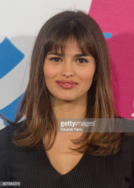 Actress Sara Salamo attends Movistar New Channel party photocall at Telefonica Flagship on January 28 2016 in Madrid Spain