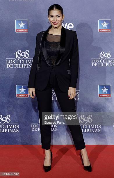 Actress Sara Salamo attends the '1898 los ultimos de Filipinas' premiere at Kinepolis cinema on November 29 2016 in Madrid Spain