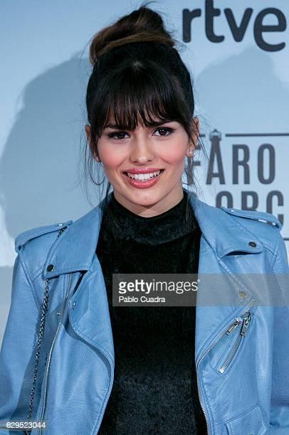 Actress Sara Salamo attends the 'El Faro de las Orcas' premiere at Capitol Cinema on December 13 2016 in Madrid Spain