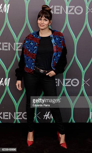 Actress Sara Salamo attends the Kenzo X HM photocall at HM store on November 2 2016 in Madrid Spain
