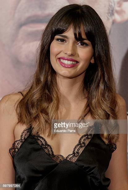 Actress Sara Salamo attends the 'Lejos del mar' premiere at Palafox cinema on August 30 2016 in Madrid Spain