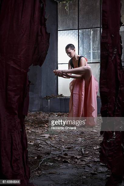 Actress Sara Serraiocco is photographed for Self Assignment on October 1 2016 in Rome Italy