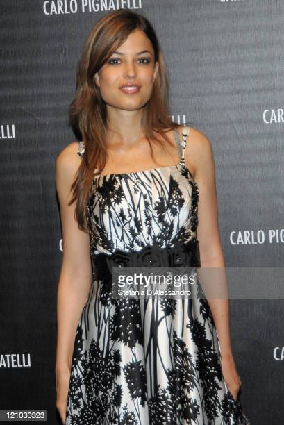 Actress Sara Tommasi attends Carlo Pignatelli Cerimonia Fashion Show during Milan Fashion Week Menswear Spring/Summer 2010 on June 19 2009 in Milan...