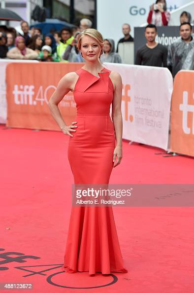 Actress Sarah Allen attends the 'Beeba Boys' premiere during the 2015 Toronto International Film Festival at Roy Thomson Hall on September 13 2015 in...