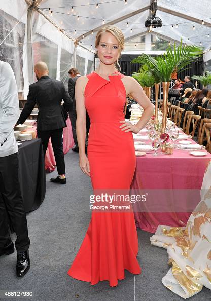 Actress Sarah Allen attends the Holt Renfrew cast dinner for 'Beeba Boys' during the 2015 Toronto International Film Festival at The Mongrel House on...