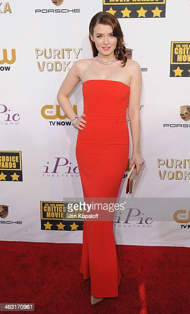 Actress Sarah Bolger arrives at the 19th Annual Critics' Choice Movie Awards at Barker Hangar on January 16 2014 in Santa Monica California