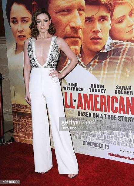 Actress Sarah Bolger attends the Premiere Of Clarius Entertainment's 'My All American' at The Grove on November 9 2015 in Los Angeles California