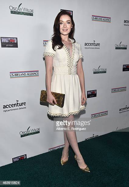 Actress Sarah Bolger attends the USIreland Aliiance's Oscar Wilde Awards event at JJ Abrams' Bad Robot on February 19 2015 in Santa Monica California