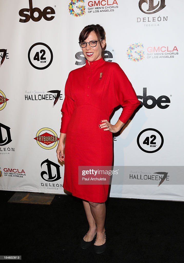 Actress Sarah Burns attends Fred & Jason's annual Halloweenie charity event at The Lot on October 26, 2012 in West Hollywood, California.