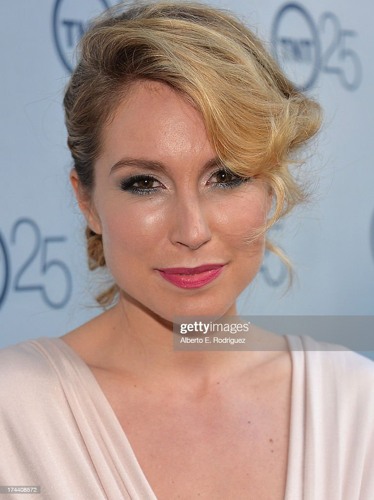 Actress <a gi-track='captionPersonalityLinkClicked' href=/galleries/search?phrase=Sarah+Carter+-+Actress&family=editorial&specificpeople=537679 ng-click='$event.stopPropagation()'>Sarah Carter</a> arrives to TNT's 25th Anniversary Party at The Beverly Hilton Hotel on July 24, 2013 in Beverly Hills, California.