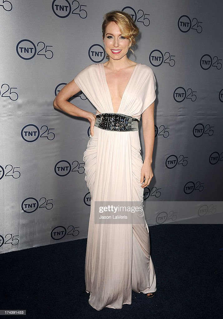 Actress Sarah Carter attends TNT's 25th anniversary party at The Beverly Hilton Hotel on July 24, 2013 in Beverly Hills, California.