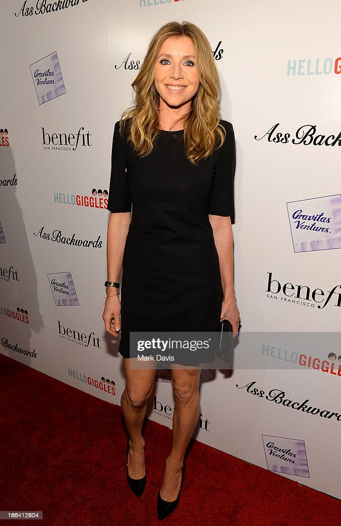 Actress Sarah Chalke attends the premiere of Gravitas Ventures' 'Ass Backwards' at the Vista Theatre on October 30, 2013 in Los Angeles, California.