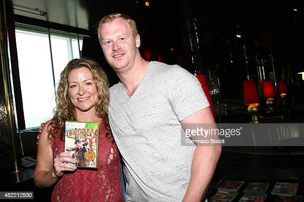 Actress Sarah Colonna and Football player Jon Ryan attend the GBK Luxury Sports Lounge prior to the ESPY Awards held at W Hollywood on July 15 2014...