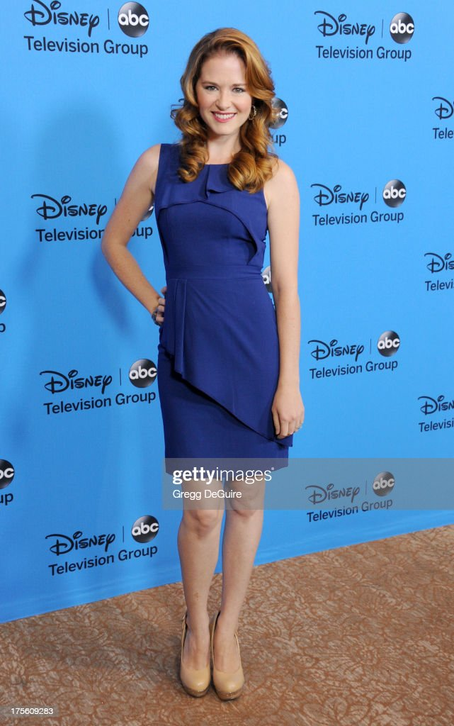 Actress Sarah Drew arrives at the 2013 Disney/ABC Television Critics Association's summer press tour party at The Beverly Hilton Hotel on August 4, 2013 in Beverly Hills, California.