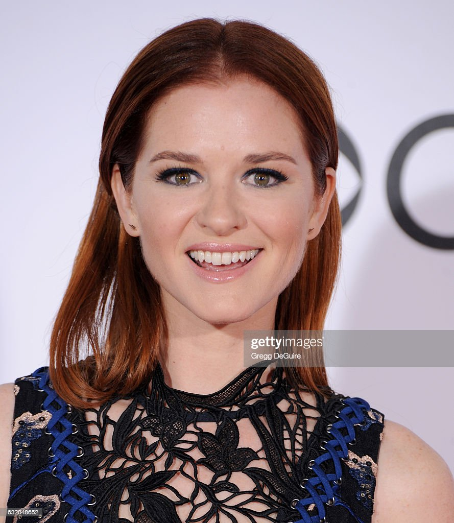Actress Sarah Drew arrives at the 2017 People's Choice Awards at Microsoft Theater on January 18, 2017 in Los Angeles, California.