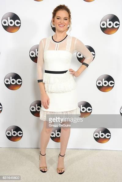 Actress Sarah Drew arrives at the 2017 Winter TCA Tour Disney/ABC at the Langham Hotel on January 10 2017 in Pasadena California