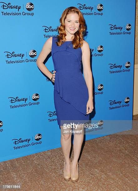 Actress Sarah Drew arrives at the Disney/ABC Party 2013 Television Critics Association's Summer Press Tour at The Beverly Hilton Hotel on August 4...