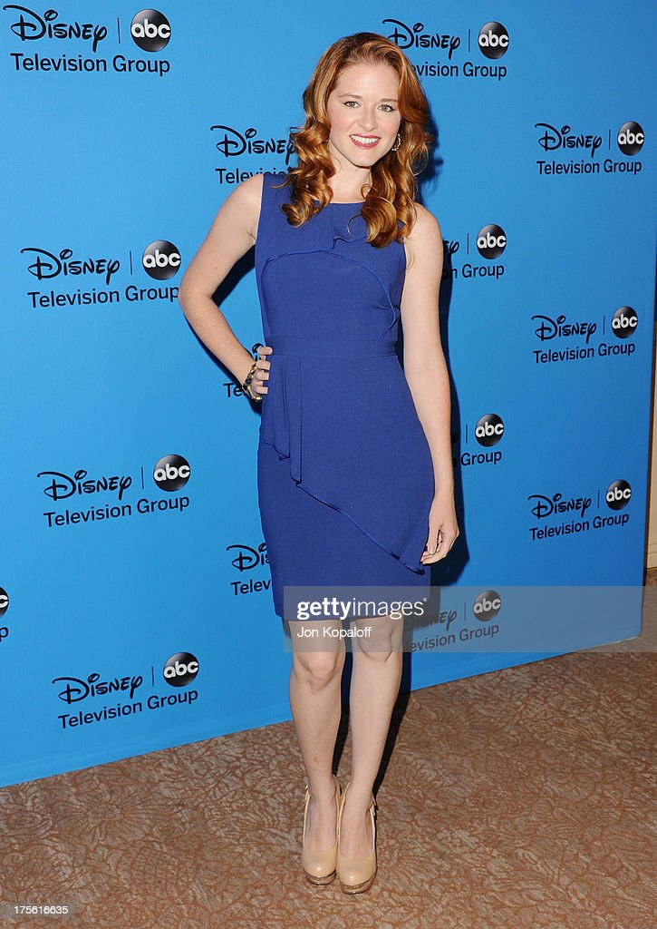 Actress Sarah Drew arrives at the Disney/ABC Party 2013 Television Critics Association's Summer Press Tour at The Beverly Hilton Hotel on August 4, 2013 in Beverly Hills, California.
