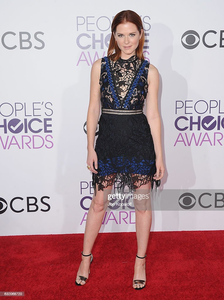 Actress Sarah Drew arrives at the People's Choice Awards 2017 at Microsoft Theater on January 18, 2017 in Los Angeles, California.