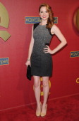 Actress Sarah Drew arrives at the QVC 5th Annual Red Carpet Style event at The Four Seasons Hotel on February 28 2014 in Beverly Hills California
