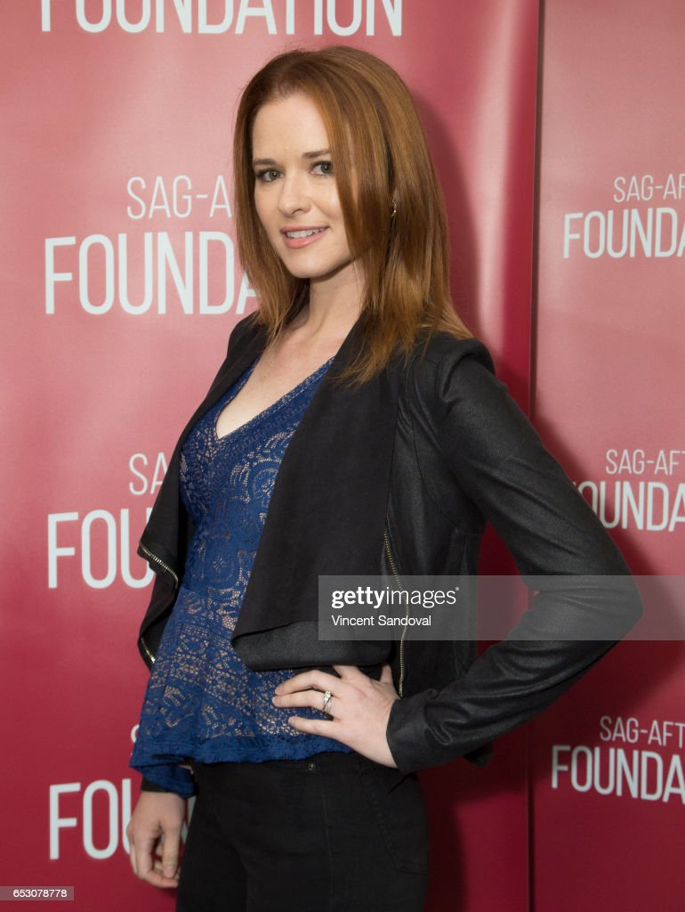 Actress Sarah Drew attends SAG-AFTRA Foundation's Conversations with 'Grey's Anatomy' at SAG-AFTRA Foundation Screening Room on March 13, 2017 in Los Angeles, California.