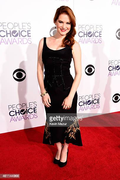 Actress Sarah Drew attends The 41st Annual People's Choice Awards at Nokia Theatre LA Live on January 7 2015 in Los Angeles California