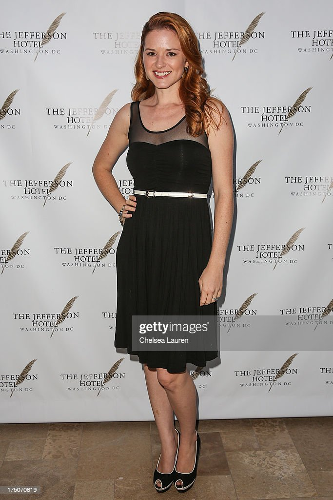 Actress <a gi-track='captionPersonalityLinkClicked' href=/galleries/search?phrase=Sarah+Drew&family=editorial&specificpeople=2084031 ng-click='$event.stopPropagation()'>Sarah Drew</a> attends The Jefferson Hotel D.C. vintage wine tasting summer soiree at Hotel Bel-Air on July 30, 2013 in Los Angeles, California.
