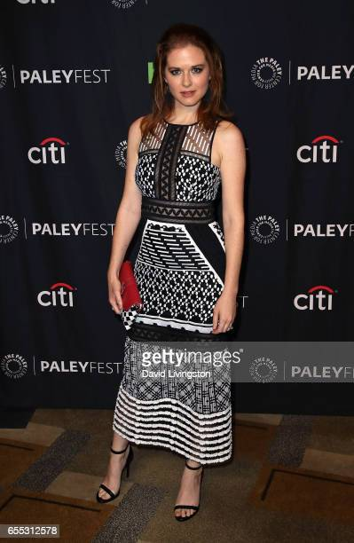 Actress Sarah Drew attends The Paley Center for Media's 34th Annual PaleyFest Los Angeles presentation of 'Grey's Anatomy' at Dolby Theatre on March...